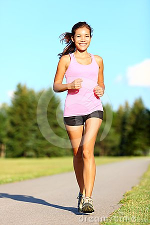 Free Power Walking Woman In Park Stock Images - 24523864