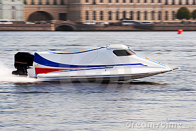 Powerboat on championship