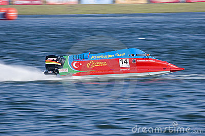 Powerboat Championship in China Editorial Photo