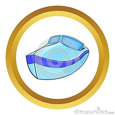 Powerboat vector icon Vector Illustration