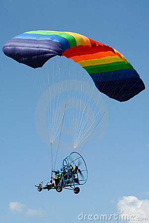 Free Powered Paraglider Stock Photography - 6887702