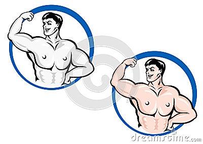 Powerful bodybuilder