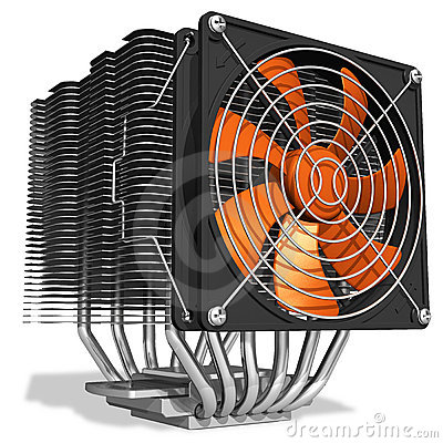 Powerful CPU cooler with heatpipes