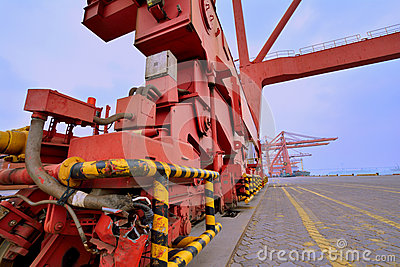 Powerful dock equipment, Xiamen, Fujian, China Editorial Photo