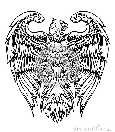 Free Powerful Eagle Or Griffin Royalty Free Stock Photo - 25321005