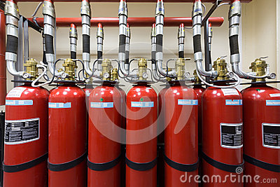 Powerful industrial fire extinguishing system