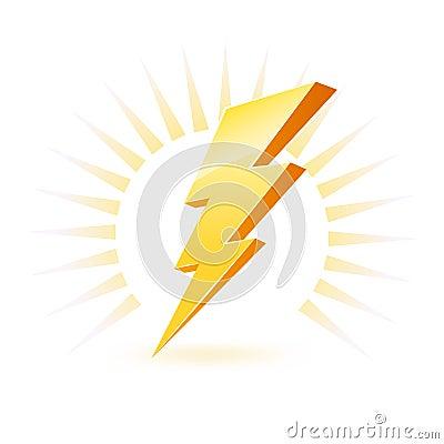 Free Powerful Lighting Symbol Royalty Free Stock Images - 14624219