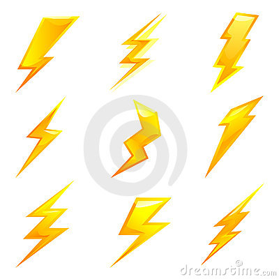 Powerful lightning bolts