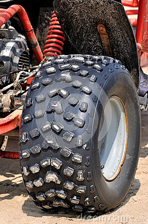 Powerful tyre of beach sand motorcycle