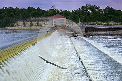 Powerhouse and Dam Spillway