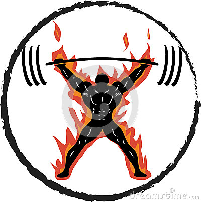 Free Powerlifter On Fire Royalty Free Stock Photography - 43257487