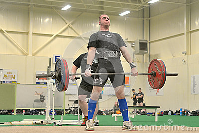 Powerlifting event - deadlift lift Editorial Image