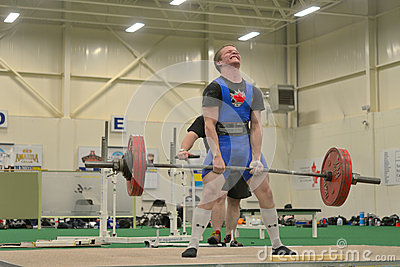 Powerlifting event - deadlift lift Editorial Photography
