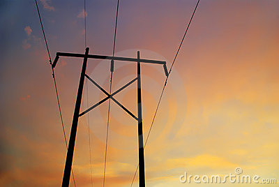 Powerline Sunset A