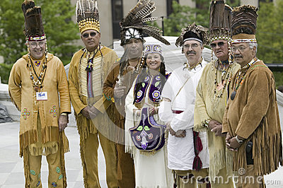 Powhatan tribal leaders Editorial Photography