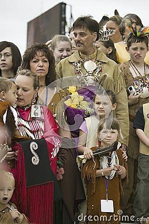 Powhatan Tribal members Editorial Stock Image