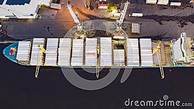 Powietrzny czasu upływ ładowanie & rozładunek ładunku statek zbiory
