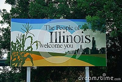 Powitanie Illinois znak