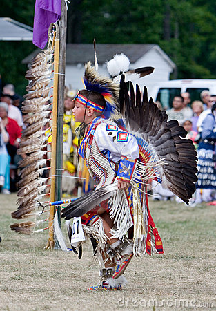 Powwow Traditional Dancer Editorial Photo