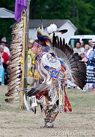 Powwow Traditional Dancer Editorial Photo