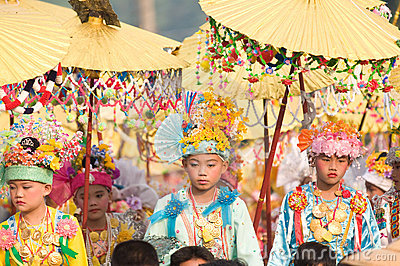 Poy Sang Long Ceremony in Mae Hong Son, Thailand Editorial Stock Photo