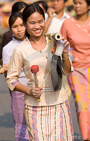 Poy Sang Long Ceremony in Mae Hong Son, Thailand Editorial Photo