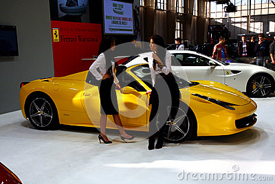 Poznan Motor Show 2012 Ferrari Stand Editorial Photo