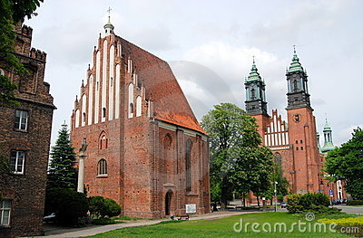 Poznan, Poland: Cathedral and St. Mary s Church Editorial Image