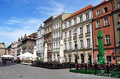 Poznan, Poland: Rynek Market Square Editorial Stock Photo