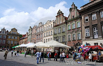 Poznan, Poland: Rynek Old Market Square Editorial Stock Image