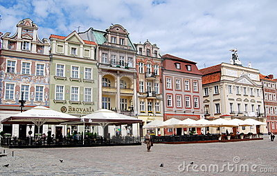 Poznan, Poland: Rynek Old Market Square Editorial Photo