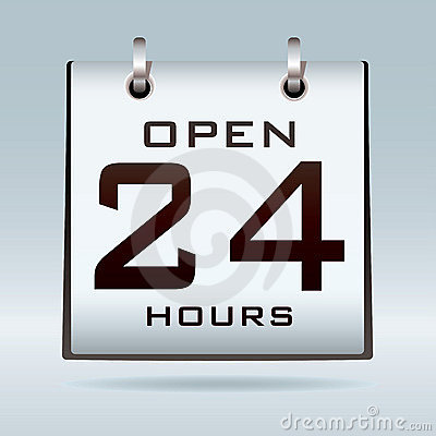 öppen kalender 24hr