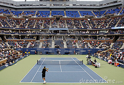 öppen tennis för match oss Redaktionell Fotografering för Bildbyråer