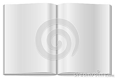 öppnad blank tidskrift