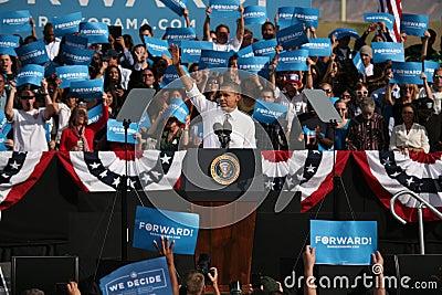 Präsidentschaftsanwärter Barack Obama Redaktionelles Stockbild
