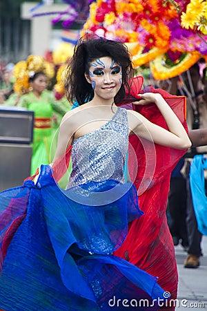 Prévision du défilé 2011 de Chingay Photo stock éditorial