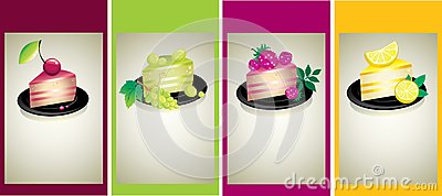 Prövkopior för design för cakesost inställda läckra
