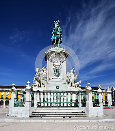 Praca do Comercio, Baixa, King Jose statue, Lisbon
