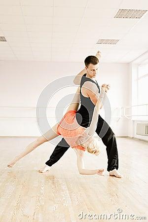Practice in aerobics room