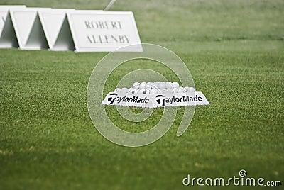 Practice Balls - Robert Allenby - Winner Editorial Stock Image