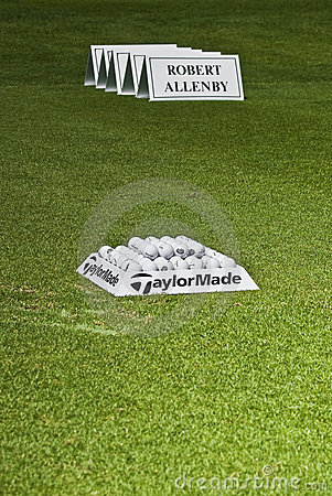 Practice Balls - Robert Allenby - Winner - NGC2009 Editorial Stock Image