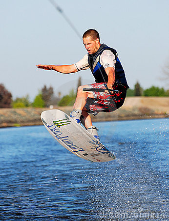 Practice Jumping on a Wakeboard
