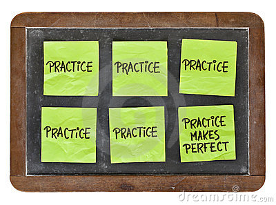 Practice makes perfect concept