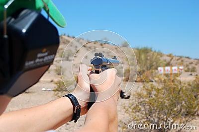 Practice Shooting a Handgun