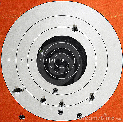 Practice Target with Bullet Holes