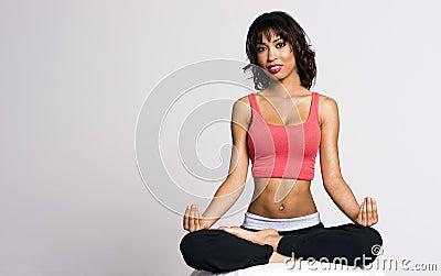 Petite Woman Perfect Figure Practice Yoga