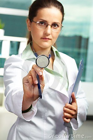 Practitioner with stethoscope
