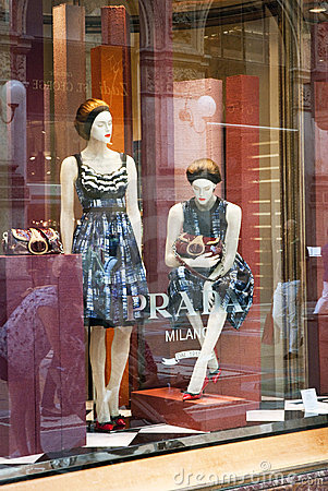 Prada boutique - Milan Editorial Image