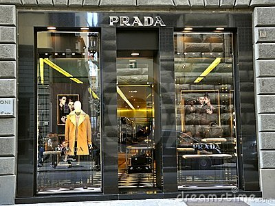 Prada fashion store in Italy  Editorial Photo