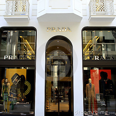 Prada luxury shop Editorial Stock Image